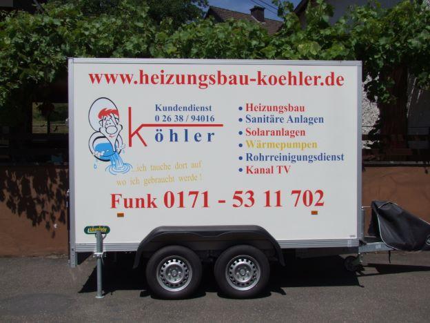 Leistungen Heizungsbau Köhler